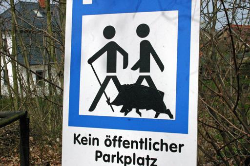 Gassi gehen mit Wildschweinen - kleine Scherze am Wegesrand...