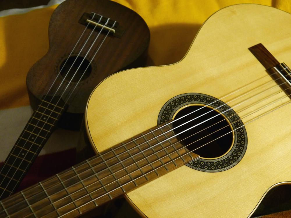 Ukulele vs. Gitarre