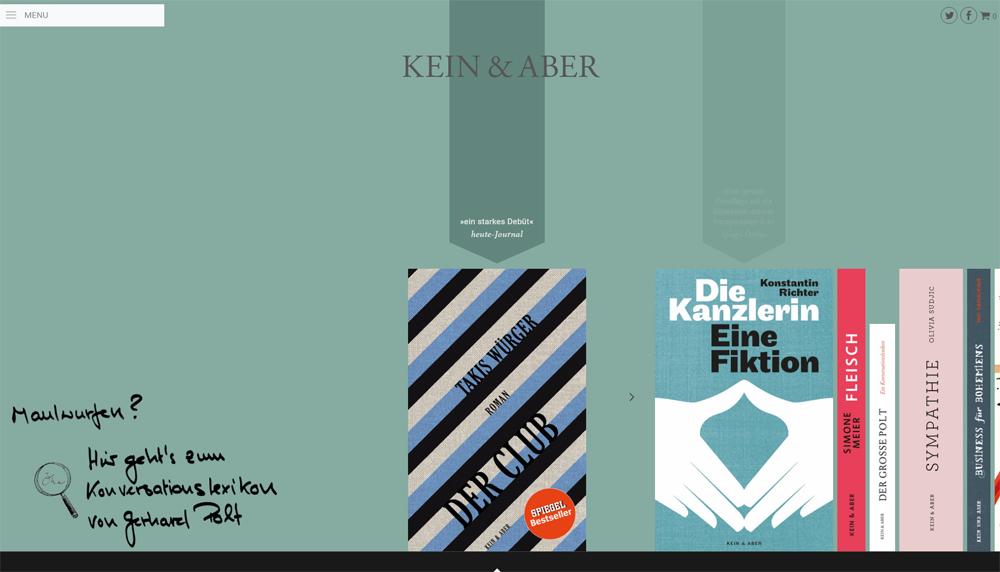 Hier macht Stöbern Spaß: Ästhetischer Buchshop von Kein & Aber