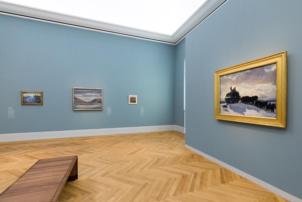 """Ausstellungsansicht """"Von Hopper bis Rothko. Amerikas Weg in die Moderne"""", Museum Barberini, Photo: Helge Mundt, © Museum Barberini"""
