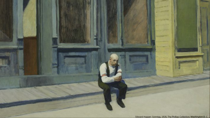 Edward Hopper: Sonntag, 1926, The Phillips Collection, Washington D. C.