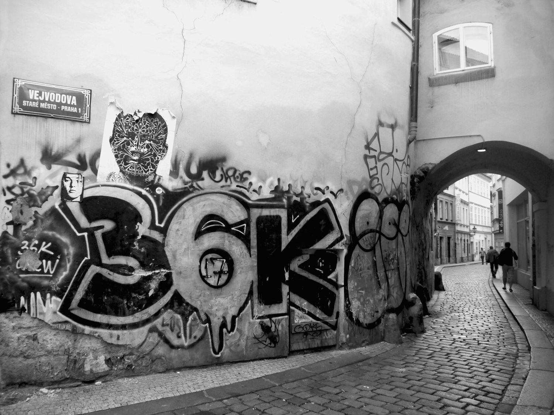 Streetart in der Prager Altstadt