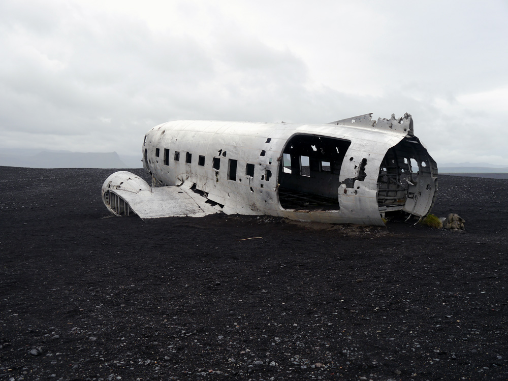Flugzeugwrack am Strand von Sólheimasandur