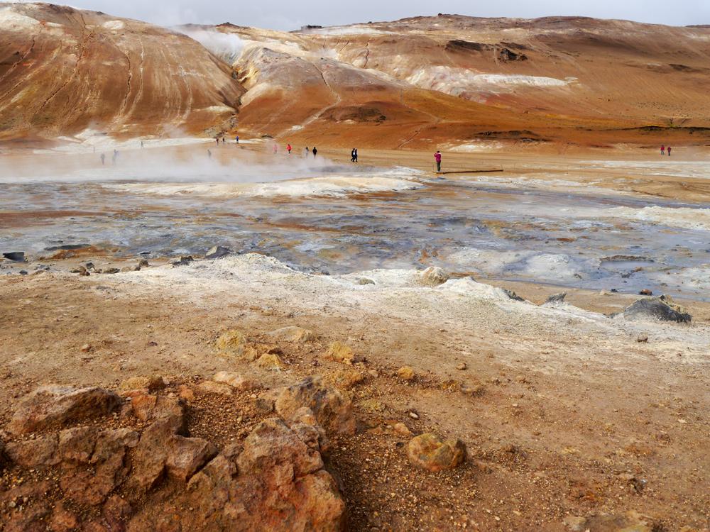 Blubbernde Quellen im Gebiet Myvatn