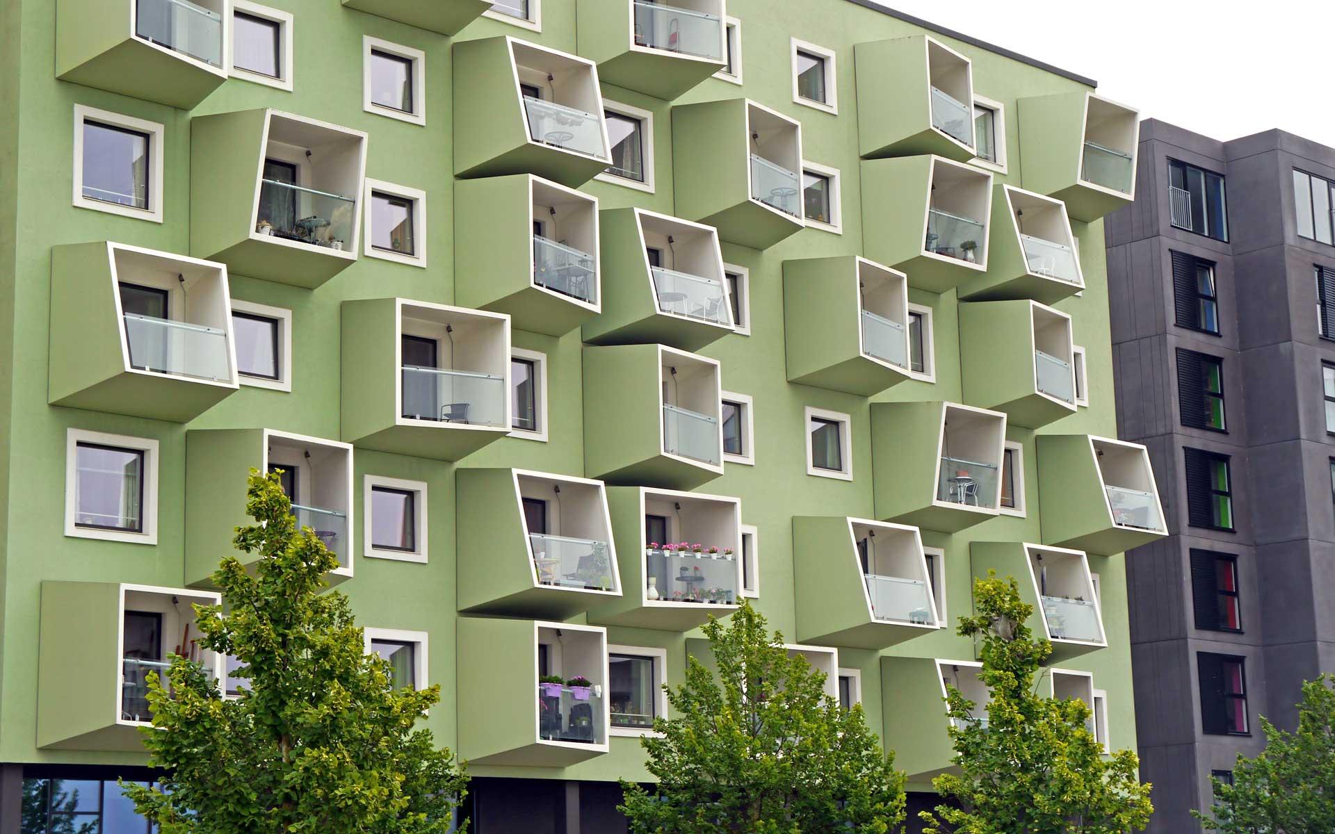 Ørestad auf der Insel Amager ist das jüngste Stadtviertel der dänischen Kommune Kopenhagen