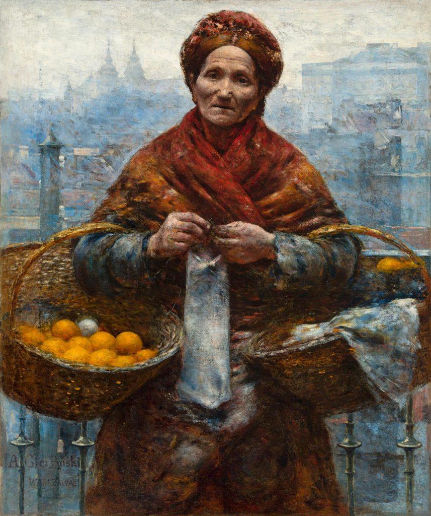 Die Jüdin mit den Orangen, Gemälde von Aleksander Gierymski