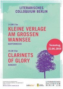 Kleine Verlage am Großen Wannsee - Ein Higlight im Kultursommer 2019