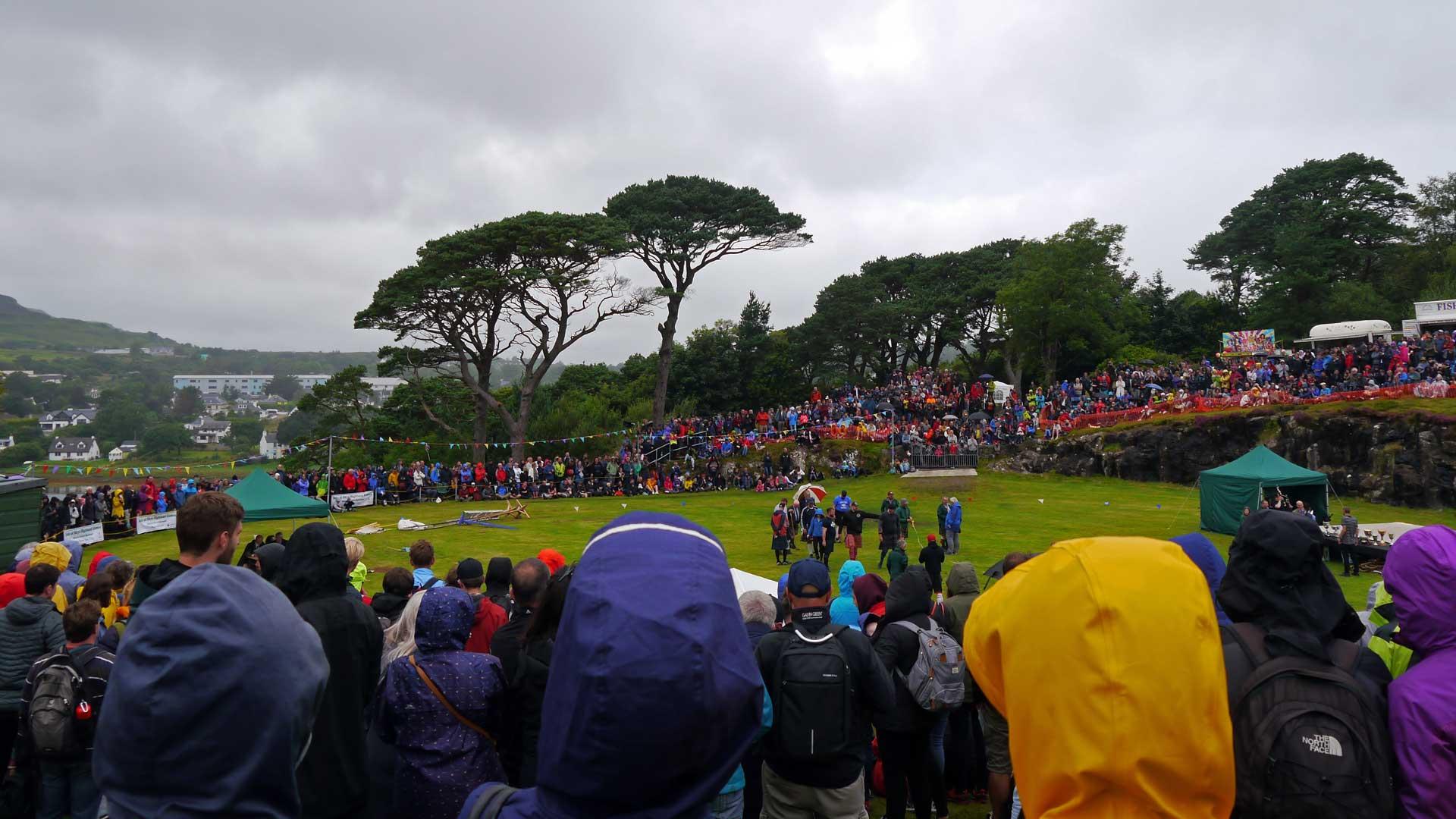 Lasst die Spiele beginnen! Die Highland Games in Portree auf der Insel Skye (Foto: Sommerdiebe.de)