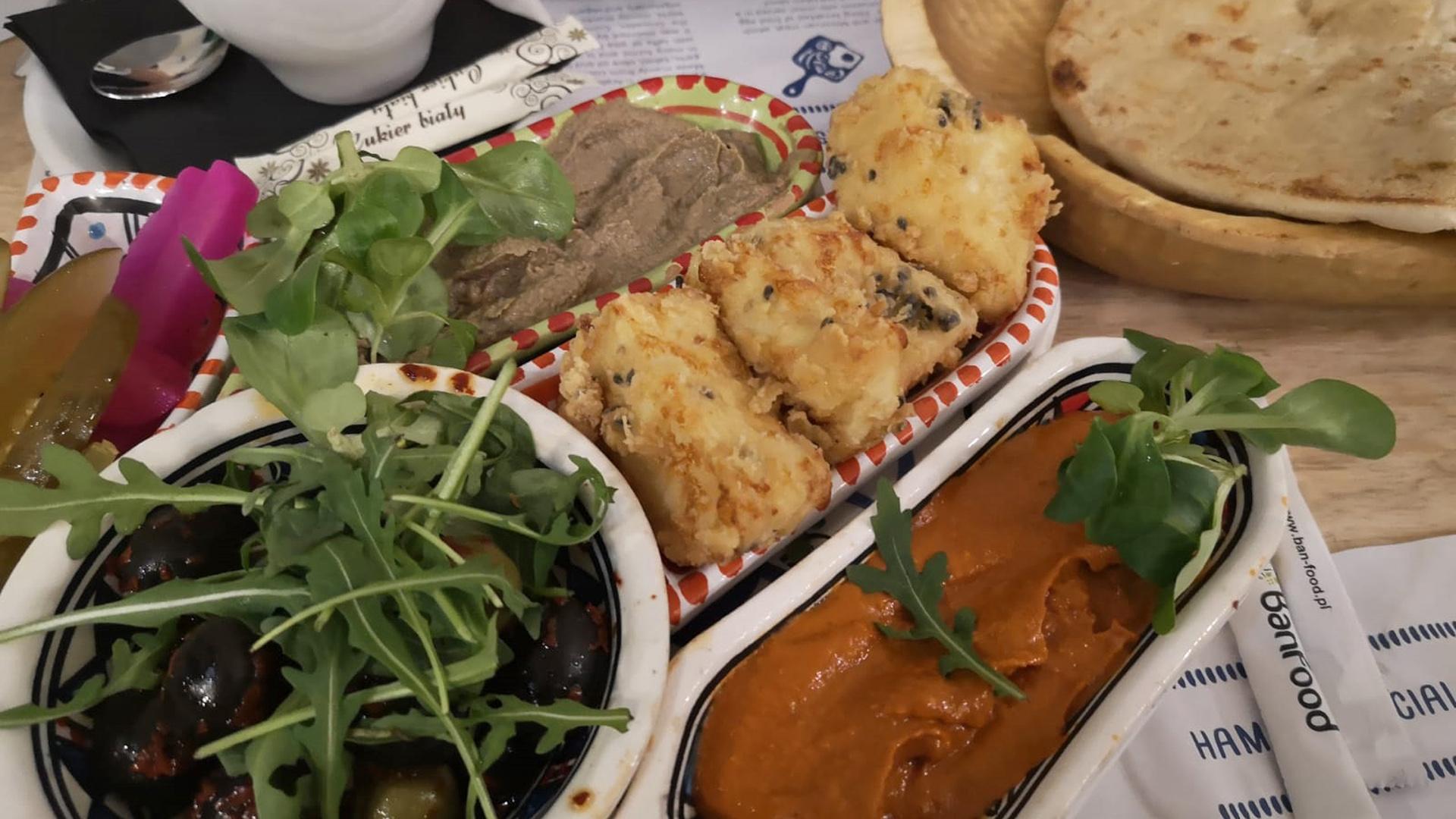 Moderne israelische Küche: Restaurant Hamsa in Krakau